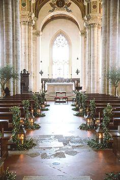 Beautiful And Breathtaking Church Wedding Decorations ❤ See more: http://www.weddingforward.com/church-wedding-decorations/ #weddings