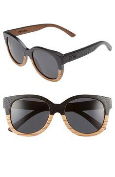 Proof Eyewear Proof Eyewear 'Ivory Wood' Polarized Sunglasses available at Wooden Sunglasses, Oversized Sunglasses, Eye Glasses, Polarized Sunglasses, Lenses, Eyewear, Nordstrom, Ivory, Shoe Bag