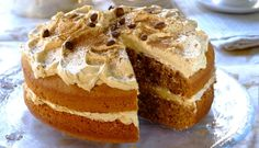 Coffee Cake Recipe is delicious, tasteful and yammi dish. Coffee Cake can be made in less than few minutes with the help of very few ingredients Flat Cakes, Big Cakes, Coffee Icing, Coffee Cake, Round Cake Pans, Round Cakes, Easy Cake Recipes, Baking Recipes, Something Sweet