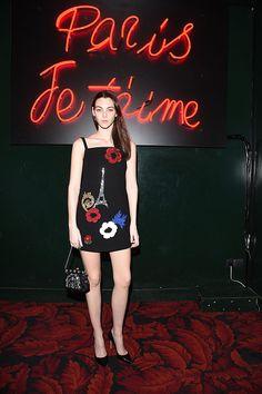 Vittoria Ceretti attends 'Paris Je T'aime' party Dolce Gabbana on March 6 2016 in Paris France