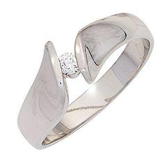 Dreambase Damen-Ring 1 Diamant-Brillant 14 Karat (585) Weißgold 0.08 ct. 56 (17.8) Dreambase http://www.amazon.de/dp/B00N5BI7SS/?m=A37R2BYHN7XPNV