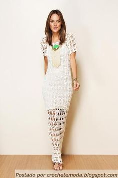 Crochetemoda: Vestido de Crochet Farm