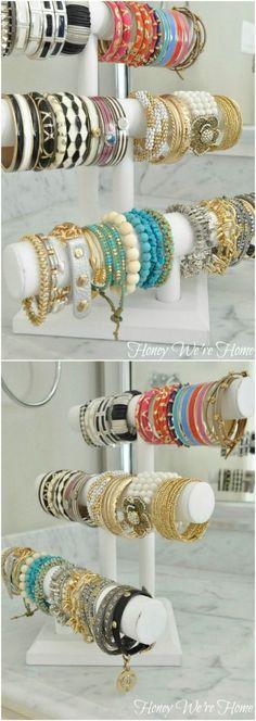 Storage Ideas Rustic Cuff Bangles And Bracelets Pinterest - Bangle bracelet storage ideas