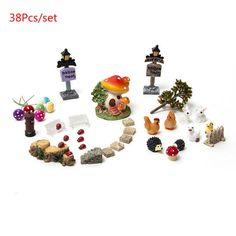 Miniature Garden Ornament 38Pcs/set Flower Fairy Dollhouse Bonsai Resin Craft Decor Terrarium Figurines Micro Landscape-https://goo.gl/NbhDZH  #awesomesauce