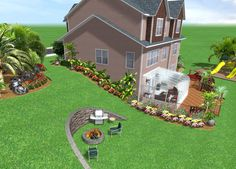 incline landscaping | Landscape Design Software by Idea Spectrum - Realtime Landscaping Pro ...