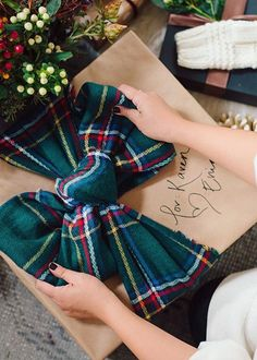 Gift wrapped with scarf via Honestly WTF