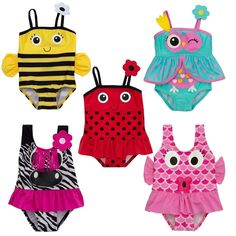 Girls Swimming Costume Zebra Owl Bee Fish Swim Bathing Suit 3 Months To 6 Years Kids Costumes Girls, Kids Outfits, Cool Outfits, Baby Girl Swimwear, Kids Swimwear, Baby Swimming Costume, Best Baby Doll, Ropa American Girl, Beach Costume