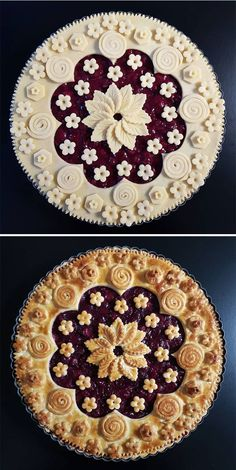 Pie Cake, No Bake Cake, Creative Pie Crust, Beautiful Pie Crusts, Apple Pie Crust, Pie Crust Designs, Pie Decoration, Pies Art, Pastry Design