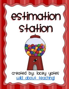 Freebie! Need a simple, quick math center for estimation??