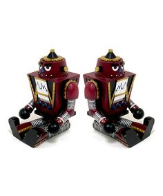Take a look at this Red Robot Bookend - Set of Two by Concepts on #zulily today!