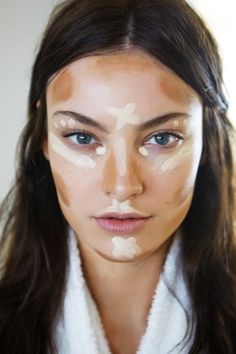 Makeup. Where to highlight