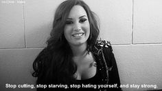 And when she encouraged her fans to stay strong and once again reinforced that she's an amazing role model.   21 Times Demi Lovato Was Totally Iconic