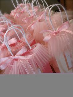 Bolsa de lembrancinhas para festa de bailarina