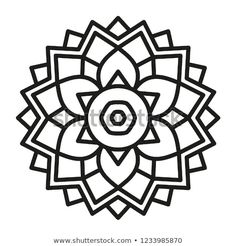 Find Simple Mandala Shape Coloring Vector Mandala stock images in HD and millions of other royalty-free stock photos, illustrations and vectors in the Shutterstock collection. Thousands of new, high-quality pictures added every day. Folk Embroidery, Embroidery Patterns, Simple Mandala, Design Art, Graphic Design, Mandala Coloring Pages, Oriental, Stationery Paper, Mandala Design