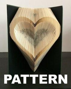 Book Folding Pattern - Love Heart