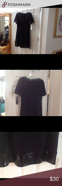 LOVELY BLACK DRESS BLACK DRESS, Size L, NWT Tiana B Dresses Midi