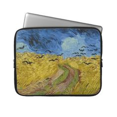 Vincent van Gogh - Wheatfield with crows Laptop Sleeve