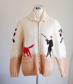The Pheasant Hunt // vintage cowichan sweater by FinFoxtailVintage