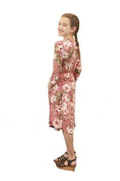 16664cbb3b8 This dress has a beautiful floral print and is super soft, cozy and most  importantly it has pockets! ModLi | Modest Fashion
