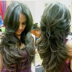 Gorgeous length with side bang and layers