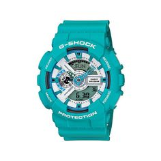 G-Shock GA110SN-3A X-Large Teal Watch ❤ liked on Polyvore