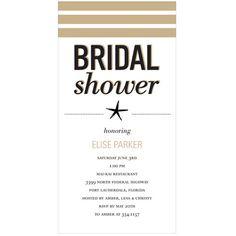 Wedded Life's a Beach -- Bridal Shower Invitations -- Super cute beach themed bridal shower invitations