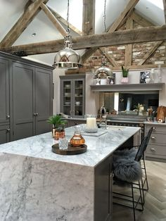 The kitchen, bedroom and bathroom are the only rooms in the house that aren't a total mess at the moments so you may be getting pics of them for a while 😂 Barn Conversion Bedroom, Barn Conversion Kitchen, Barn Conversion Interiors, Barn Conversions, Home Decor Kitchen, Home Kitchens, Kitchen Ideas, Small Kitchens, Dream Kitchens