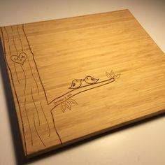 Cutting Board  Love Birds by Gowlery on Etsy
