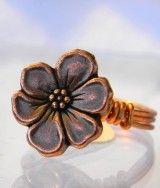 Copper Flower Ring