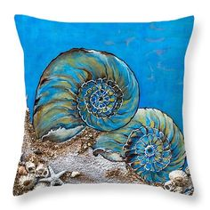 "All the Blues Throw Pillow 14"" x 14"""
