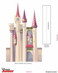 Castle - page 2 of 5 - castillo-de-disney - Rapunzel Disney, Disney Princess Castle, Disney Dolls, Cinderella Castle, Disney Princesses, Cinderella Crafts, Cinderella Birthday, Paper Toys, Paper Crafts