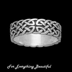 Celtic Interlace Endless Sterling Silver Ladies Ring Wedding Band