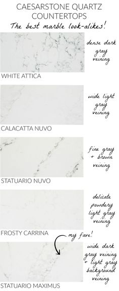 Love these Caesarstone countertops that have the durability of quartz but look like marble! kitchen/ appliances kitchen/ innovation kitchen/ ikea kitchen/ layout kitchen/ sunrooms kitchen/ composter k Cabnits Kitchen, Kitchen Pantry, Kitchen Appliances, Kitchen Ideas, Kitchen Decor, Diy Kitchen, Kitchen Designs, Kitchen Cabinets, Decorating Kitchen