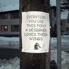 comic sans is the butt of every font joke