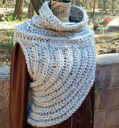 Crochet Huntress Crossbody Cowl // Hunger Games by hookandhoot