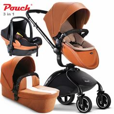 Big Deal Brand baby strollers 2017 Pouch Stroller 2 in 1 car seat baby sleeping newborn luxury baby car leather carriage Baby Trolley, Baby Shower Invitaciones, Baby Prams, Baby Bassinet, Travel System, Baby Carriage, Baby Sleep, Baby Car Seats, White Leather
