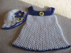 Springtime Style Girls Sundress and Matching Hat Pattern with Blossoms all sizes 3mos. - 4yrs. $4.20, via Etsy.