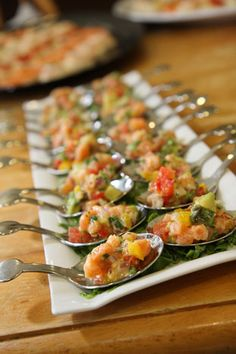 Spoon Appetizers: Elegant & easy for guests to enjoy! {No Recipe}