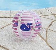 Navy Whale Small Beach Ball