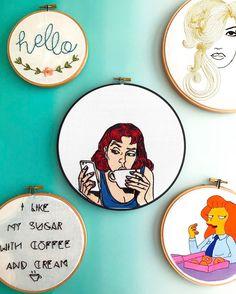 Saturday mood.  -- Pop Art Babe in the shop soon! {bonus: she's customizable!} -- Clothandtwigshop.com #clothandtwig #abmcrafty #creativelifehappylife