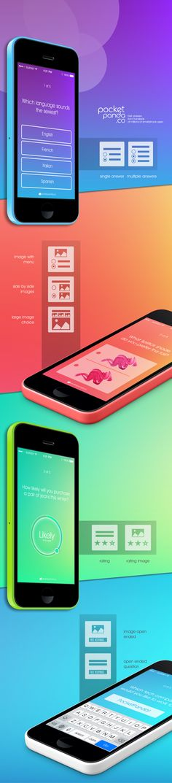 Survey Look and Feel by Julia Grosman, via Behance Mobile Application Design, Mobile Ui Design, App Ui Design, User Interface Design, Survey Design, Ui Patterns, Responsive Web Design, Web Design Inspiration, Interactive Design