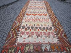 VintageHome DecorHandwoven Rug 15'2 x 5'11 by Beautwool on Etsy, $2800.00