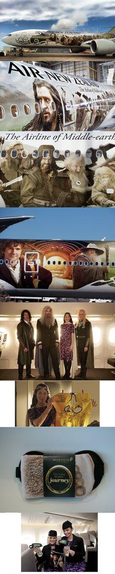 Air New Zealand Hobbit plane ( Boeing 777-300 ER)