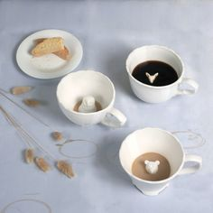 Hidden animal teacups. Perfect for a tea party with your little ones!