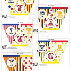 Carnival Birthday Banner, Circus Birthday Banner, Carnival Bunting, Circus Bunting, Carnival Party Banner, Circus Birthday