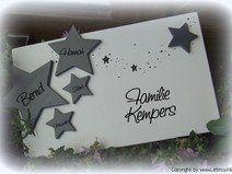 Türschild Familienschild mit Sternen