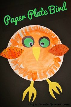 Bird Crafts Preschool, Dinosaur Crafts, Ocean Crafts, Fish Crafts, Diy And Crafts, Paper Crafts, Toddler Art, Toddler Crafts, Summer Crafts For Toddlers