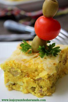 Tajine tunisien / pommes de terre – thon