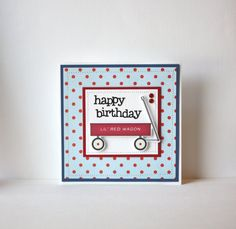 Happy Birthday Handmade Card on Etsy, $6.25
