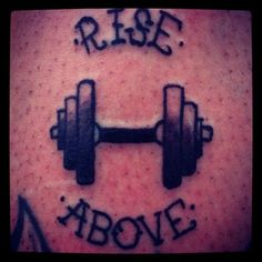 Weight lifting tattoo